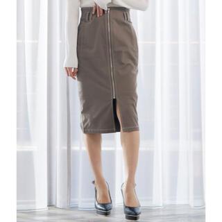 リップサービス(LIP SERVICE)のLIPSERVICE バイカラーステッチペンシルZIPスカート(ひざ丈スカート)