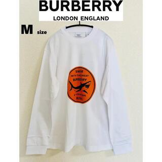 バーバリー(BURBERRY)の【新品】BURBERRY バーバリー シャーク ロゴTシャツ ロンT(Tシャツ/カットソー(七分/長袖))