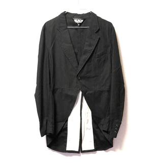ブラック コムデギャルソン 燕尾 ロングジャケット