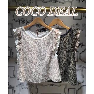 ココディール(COCO DEAL)のCOCO DEAL レオパードブラウス(シャツ/ブラウス(半袖/袖なし))