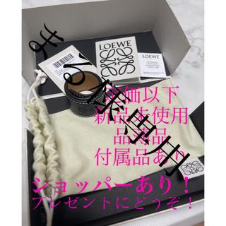 ロエベ(LOEWE)のロエベ ブレスレット レザー スモールスラップ ブラック 品薄品 (ブレスレット/バングル)
