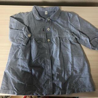 ムジルシリョウヒン(MUJI (無印良品))のベビー服 シャツワンピース チュニック(ワンピース)