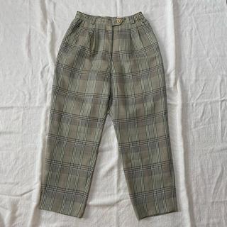 ロキエ(Lochie)の🦢vintage plaid pants 🌿(カジュアルパンツ)