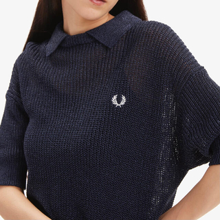 FRED PERRY - フレッドペリー PAPER KNITTED SHIRT
