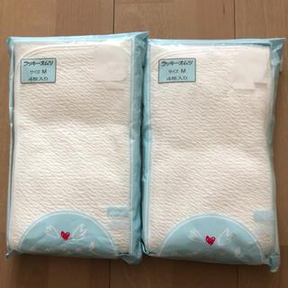 【新品】エンゼル angel ラッキーオムツ Mサイズ 4枚入り 2セット(布おむつ)