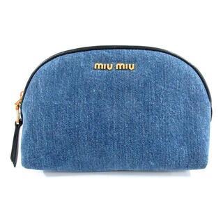 ミュウミュウ(miumiu)のミュウミュウ ポーチ美品  - 5ND009(ポーチ)