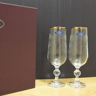ボヘミア クリスタル(BOHEMIA Cristal)の新品 BOHEMIA CRYSTAL ボヘミアクリスタル 金縁 ワイングラス(グラス/カップ)