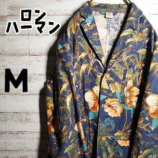 ロンハーマン(Ron Herman)の★90's古着★ロン・ハーマン メンズ ジャケット 花柄 ボタニカル サイズM(ナイロンジャケット)