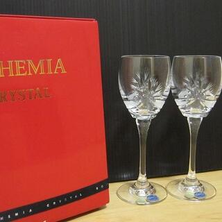 ボヘミア クリスタル(BOHEMIA Cristal)の新品 BOHEMIA CRYSTAL ボヘミアクリスタル リボン花 ワイングラス(グラス/カップ)
