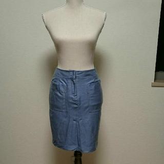 ドロアーズ(DROORS)のDOROA スカート 水色 綺麗(ひざ丈スカート)