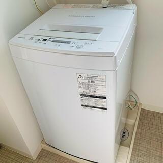 トウシバ(東芝)の【10/1発送】洗濯機TOSHIBA AW-45M5(W)(洗濯機)
