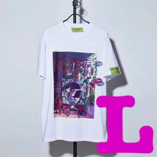 HP TOP TEE ずっと真夜中でいいのに。Tシャツ 白 L(Tシャツ(半袖/袖なし))