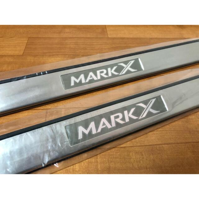 トヨタ(トヨタ)のマークX 130系後期 ドアスカッフプレート 前席 トヨタ純正 自動車/バイクの自動車(車内アクセサリ)の商品写真
