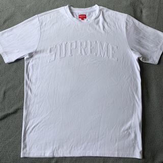 シュプリーム(Supreme)のSupreme Chenille Arc Logo S/S Top White(Tシャツ/カットソー(半袖/袖なし))