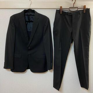 アオヤマ(青山)の【三連休セール】ブラックスーツ ツーパンツセット 就活、冠婚葬祭にもおすすめ(セットアップ)