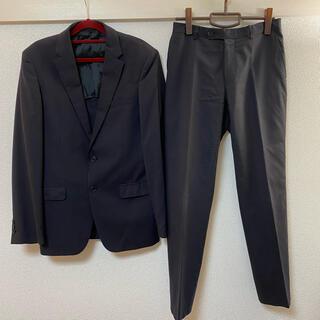 アオヤマ(青山)の濃紺スーツ ツーパンツセット 就活にもおすすめ(セットアップ)