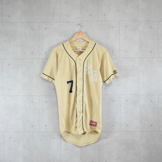 ローリングス(Rawlings)のベースボールシャツ ゲームシャツ 野球 コスタリカ製 金色 ゴールド(ウェア)