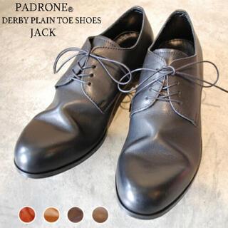 パドローネ(PADRONE)のPADRONE パドローネ ダービープレーントゥシューズ   ブラック(ドレス/ビジネス)
