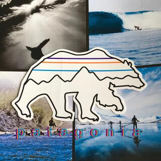 パタゴニア(patagonia)のpatagoniaパタゴニア限定激レア型抜きpolar bearステッカー(サーフィン)