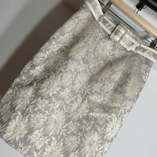 ジルバイジルスチュアート(JILL by JILLSTUART)のジルスチュアート マーガレット ジャガードタイトスカート(ひざ丈スカート)