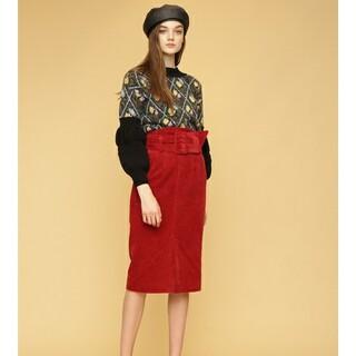 リリーブラウン(Lily Brown)の【新品タグ付】リリーブラウン ハイウエストベルトスカート(ひざ丈スカート)