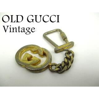 グッチ(Gucci)のオールド グッチ ヴィンテージ GG インターロッキング バッグ チャーム(チャーム)