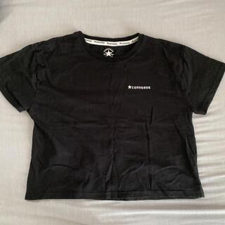 コンバース(CONVERSE)のコンバース converse Tシャツ トップス 黒 ショート チビT(Tシャツ(半袖/袖なし))