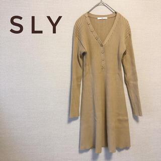 スライ(SLY)のSLY スライ ニットワンピース サイズ1 / S (ひざ丈ワンピース)