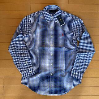 ポロラルフローレン(POLO RALPH LAUREN)の新品タグ付き ラルフローレン ギンガムチェックシャツ ブルー S表記(シャツ)