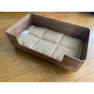 山善 - 山善 ペット用ベッド 木製 犬 猫 小型犬 幼犬 パピー ブラウン