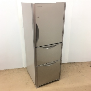 ヒタチ(日立)の冷蔵庫 日立 真空チルド 真ん中野菜室 使い易いスリムタイプ 自炊向きサイズ(冷蔵庫)