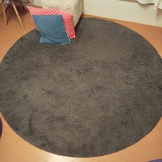 イケア(IKEA)の※引取限定※IKEA 円形ラグ 丸 グレー 北欧オシャレ(ラグ)