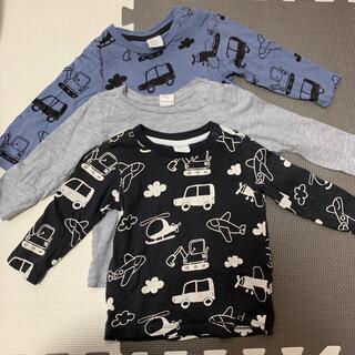 エイチアンドエム(H&M)のH&M 4-6M 長袖 3枚セット(Tシャツ)