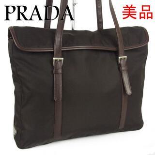 プラダ(PRADA)のプラダ テスート ナイロン×キャンバス 2層式 ショルダー ハンド バッグ(トートバッグ)