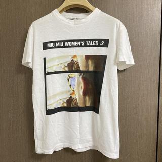 ミュウミュウ(miumiu)のmiumiu woman's tale Tシャツ(Tシャツ(半袖/袖なし))
