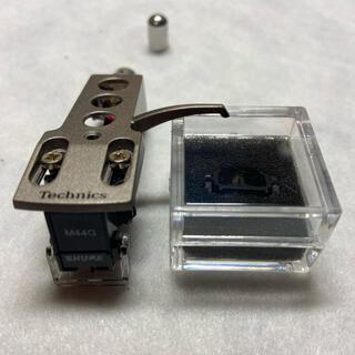 ヘッドシェル SILVER Technics SHURE M44g    セット(ターンテーブル)