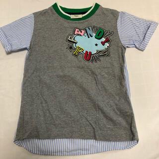 フェンディ(FENDI)のFENDI 半袖 バックストライプ グレー 4A 100〜110くらい(Tシャツ/カットソー)