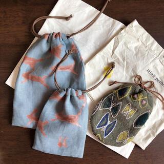 ミナペルホネン(mina perhonen)のmina perhonen 巾着&ショップバッグ set(ポーチ)