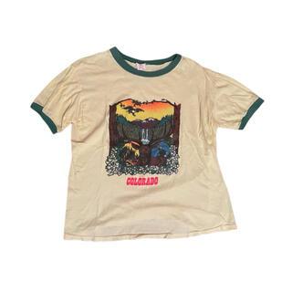 リンガーTシャツ USA古着 VINTAGE(Tシャツ/カットソー(半袖/袖なし))