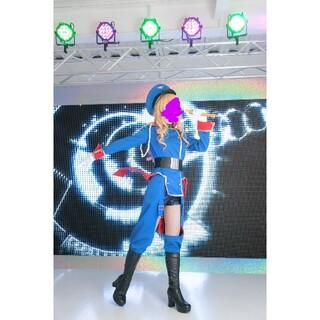 マクロスFシェリルノーム射手座の青色軍服コスプレ衣裳一式セット黒インナー付(衣装一式)