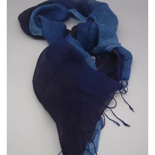 琉球藍天然発酵建 琉球藍ショール(マフラー/ショール)