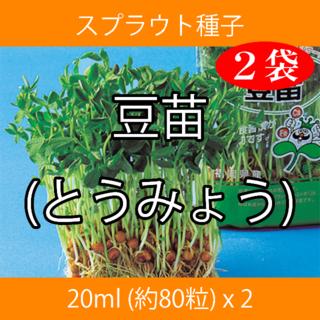 スプラウト種子 S-07 豆苗(とうみょう) 20ml 約80粒 x 2袋(野菜)