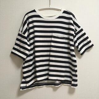 ムジルシリョウヒン(MUJI (無印良品))のボーダーTシャツ*トップス*無印(Tシャツ/カットソー(半袖/袖なし))