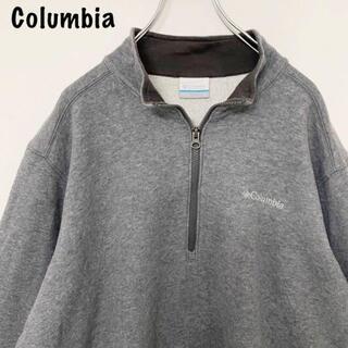 コロンビア(Columbia)のコロンビア Columbia ワンポイント刺繍ロゴ ハーフジップスウェット(スウェット)