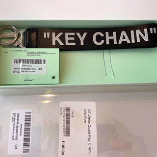 オフホワイト(OFF-WHITE)の本人確認済 off white key chain (キーホルダー)