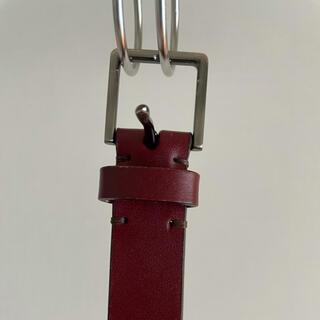 ユニクロ(UNIQLO)のユニクロ ベルト 赤 M 革(ベルト)