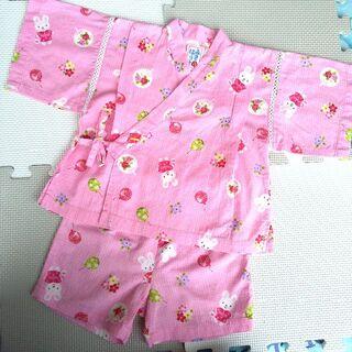 ミキハウス(mikihouse)のセール中!みきはうす 90cm 甚平 ピンク 女の子 miki HOUSE(甚平/浴衣)