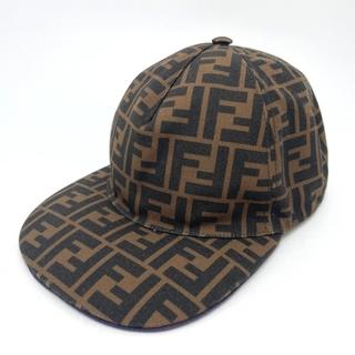 フェンディ(FENDI)のフェンディ FXQ768 ファッション小物 ズッカ キャップ 帽子 ブラウン(その他)