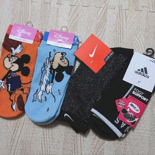 adidas - アディダス ナイキ ディズニー ミッキー 靴下 4セット