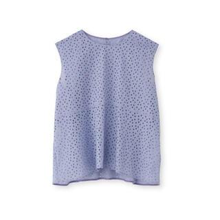 アクアガール(aquagirl)のコットン刺繍ノースリーブブラウス(シャツ/ブラウス(半袖/袖なし))
